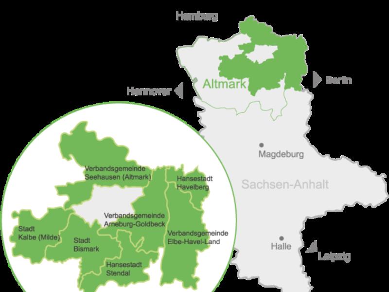 Karte der Altmark / Luxus der Leere